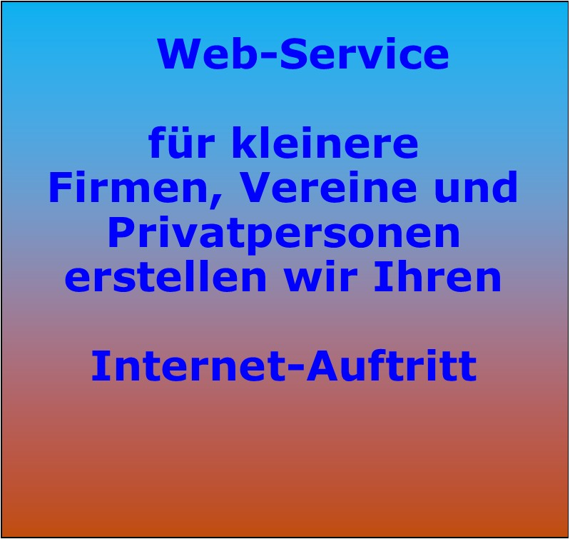 Homepage – Erstellung